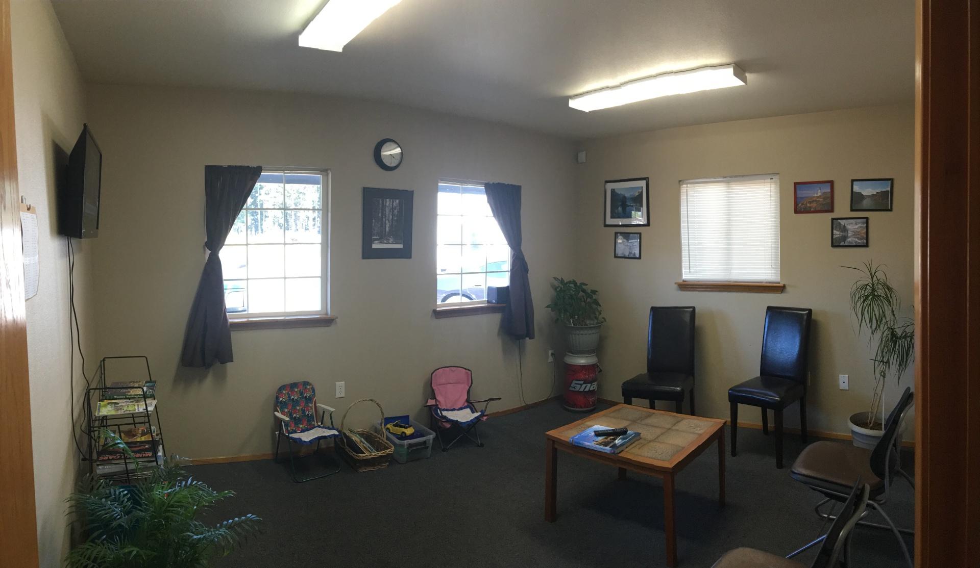 Comfortable waiting room