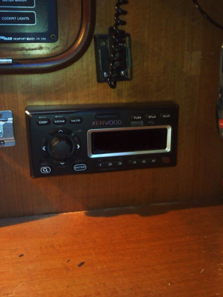 New Kenwood installed  with remote in cockpit