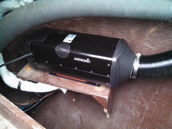 Installing new Espar diesel heater in a 43ft ketch
