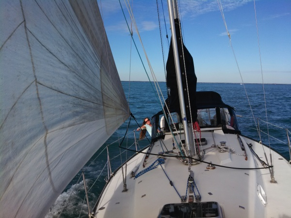 Sailing on Lake St Clair