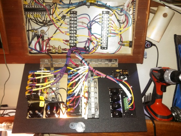 Wiring cleaned up for new panel