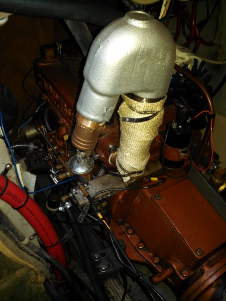 mounting new exhaust to Atomic four