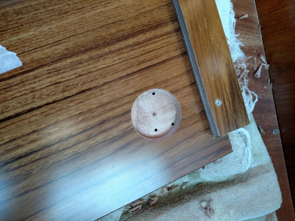 Counter sinking to mount new rotary AC selector switch