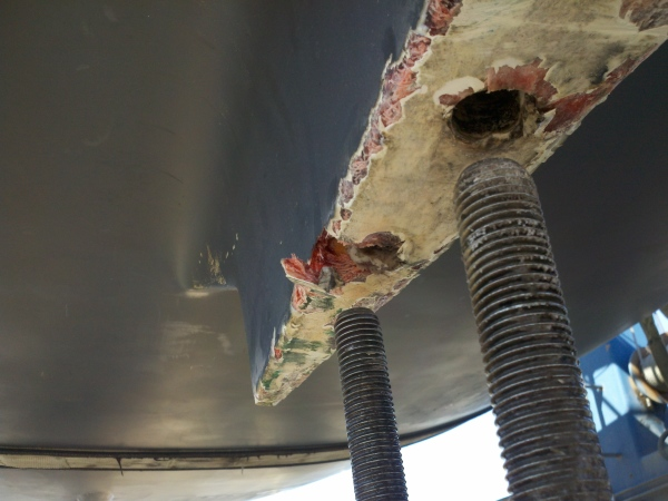 Keel bolts after removal