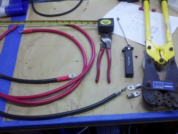 Fabricating Battery cables