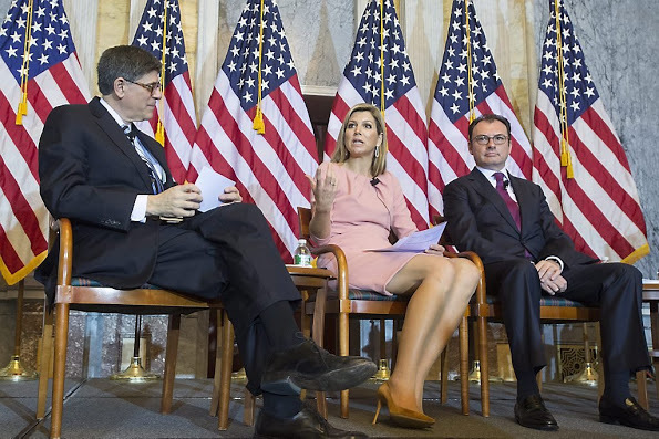 FIF 2015 - Secretary Jack Lew, Queen Maxima and Luis Videgaray Caso