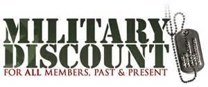 Veteran discount Military discount