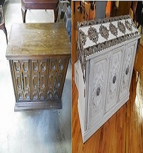 Vintage buffet chalk paint