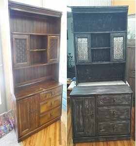 Buffet with chalk paint