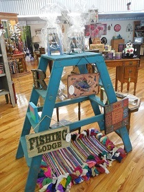 Chalk painted ladder
