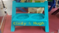 Cute home decor. Cup holder 6 inch chair, hand made in the U.S.A by Orr Decor. Made from wood, paint and hard work.