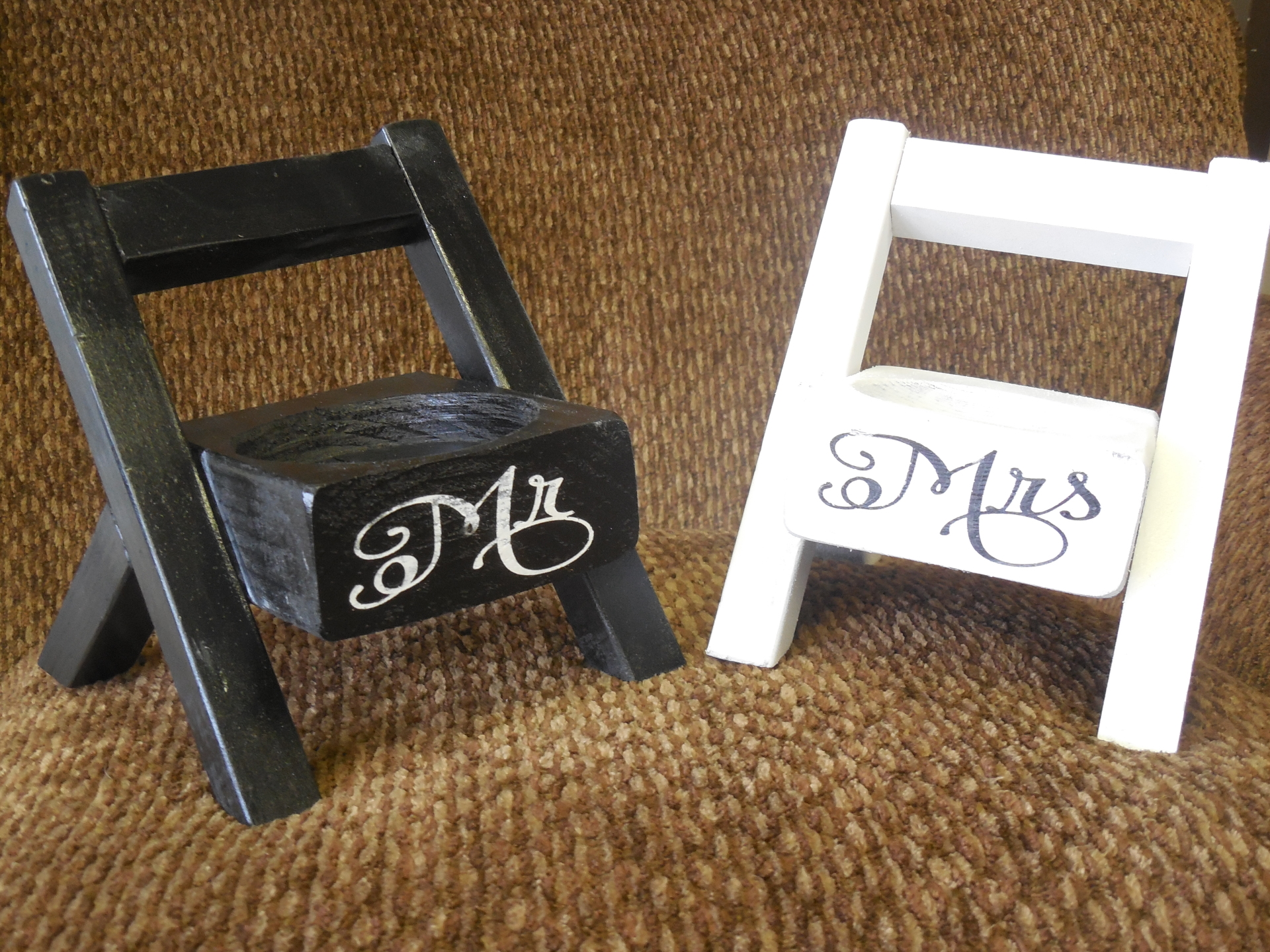 Cute home decor. Cup holder 6 inch chair, hand made in the U.S.A by Orr Decor. Made from wood, paint and hard work. air
