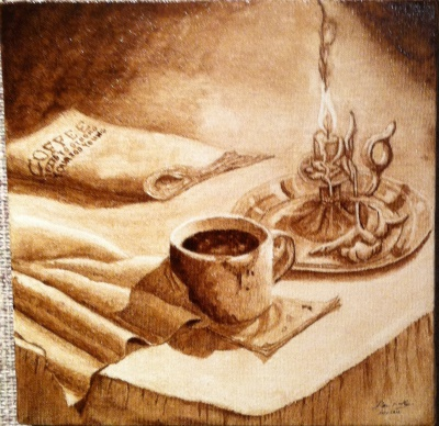 Coffee painting of Coffee