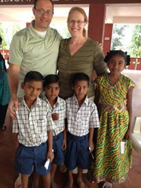 In India with our sponsored children