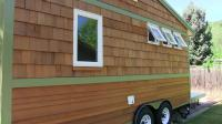 """Side View of Tiny House"" ""Showing Windows and  Woodwork"""
