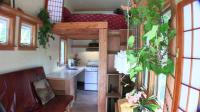 """Inside View of Tiny House"" ""View of Loft, Kitchen and Front Room"""
