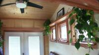 """Inside View of Tiny House"" ""Showing Windows and Ceiling Fan"""
