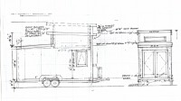 Picture of the origianal drawing of the the tiny house know as The Band Wagon