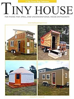Cove of Tiny House Magazine Showing the Bandwagon Tiny House