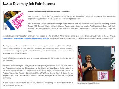June 20 2016 LA Diversity & Job Fair