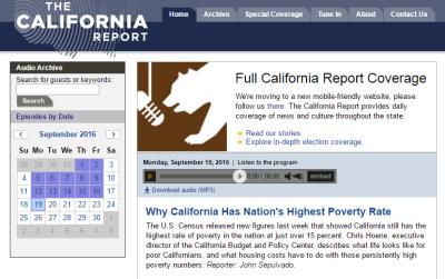 Sep 19, 2016: The California Report