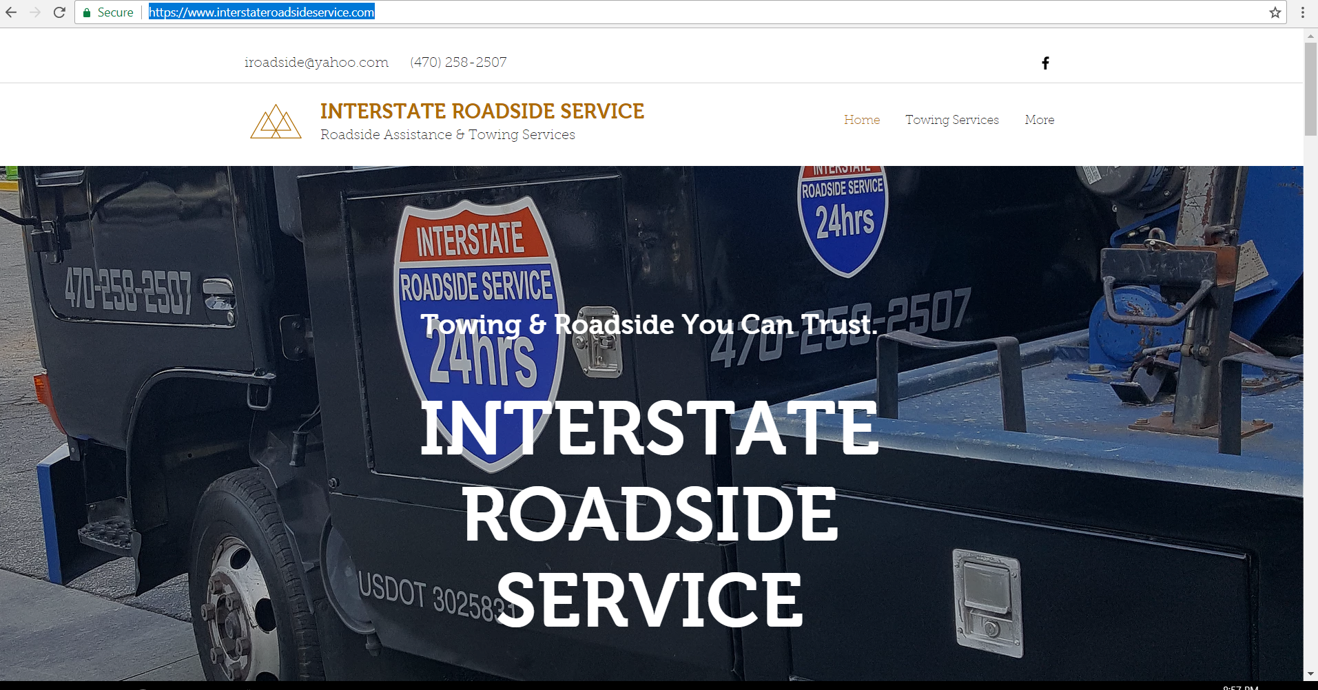 Towing Service Website Design