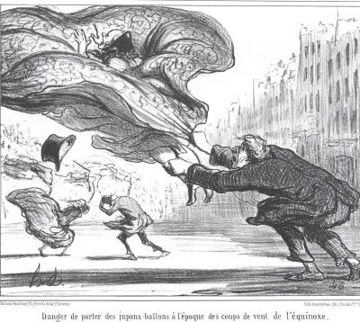 Danger de porter des jupes-ballons à l'époque des coups de vents de l'équinoxe