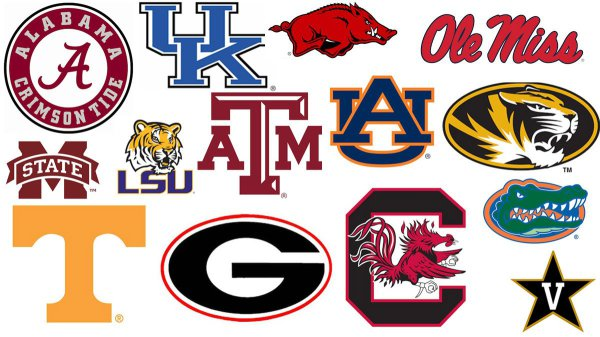 SEC College All Metal Signs