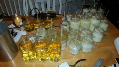 Candles in mid process