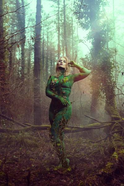 Forest Body Paint