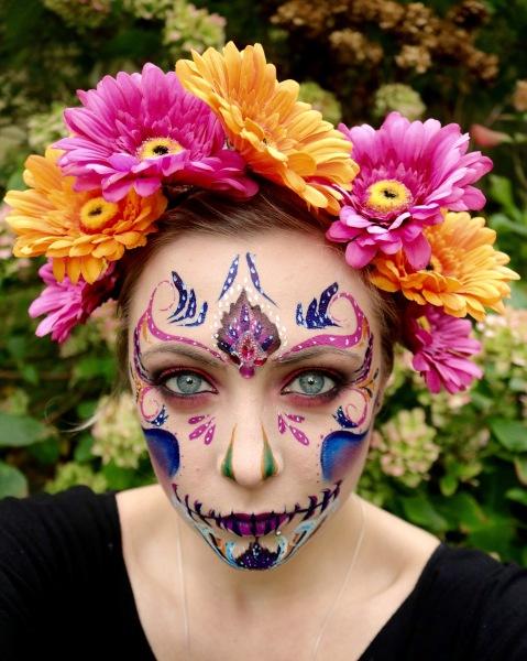 Flower Crown Sugar Skull