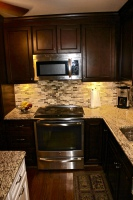 cherry, oak, stain, cabinets, new, knob, stainless,