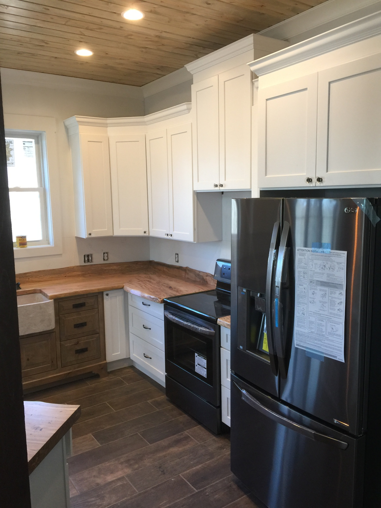 white, cabinets, kitchen, wood grain, countertops