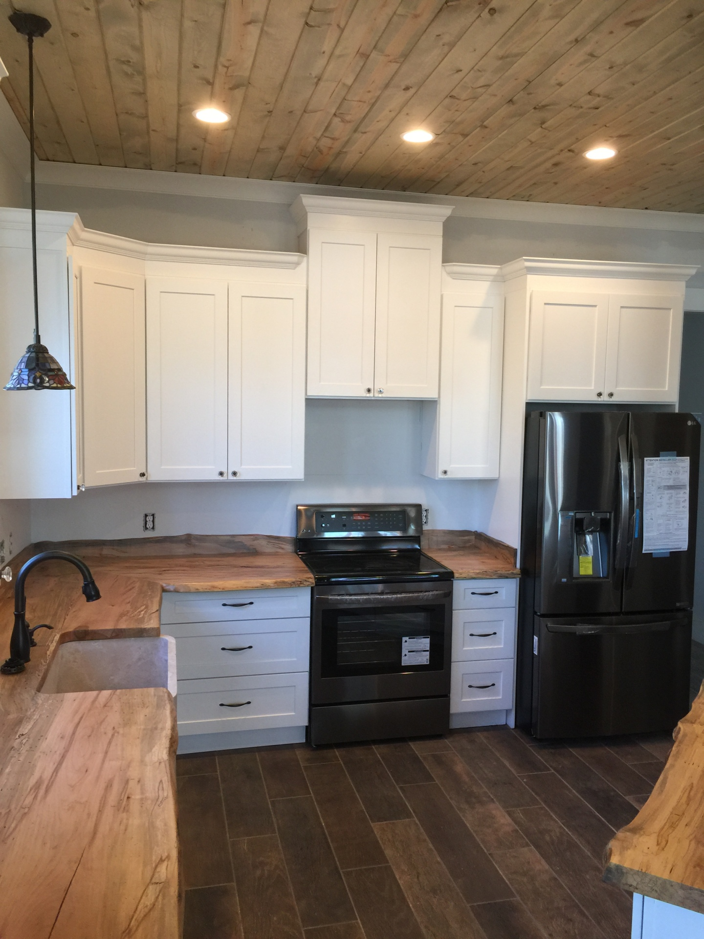 white, cabinets, kitchen, wood grain, countertop