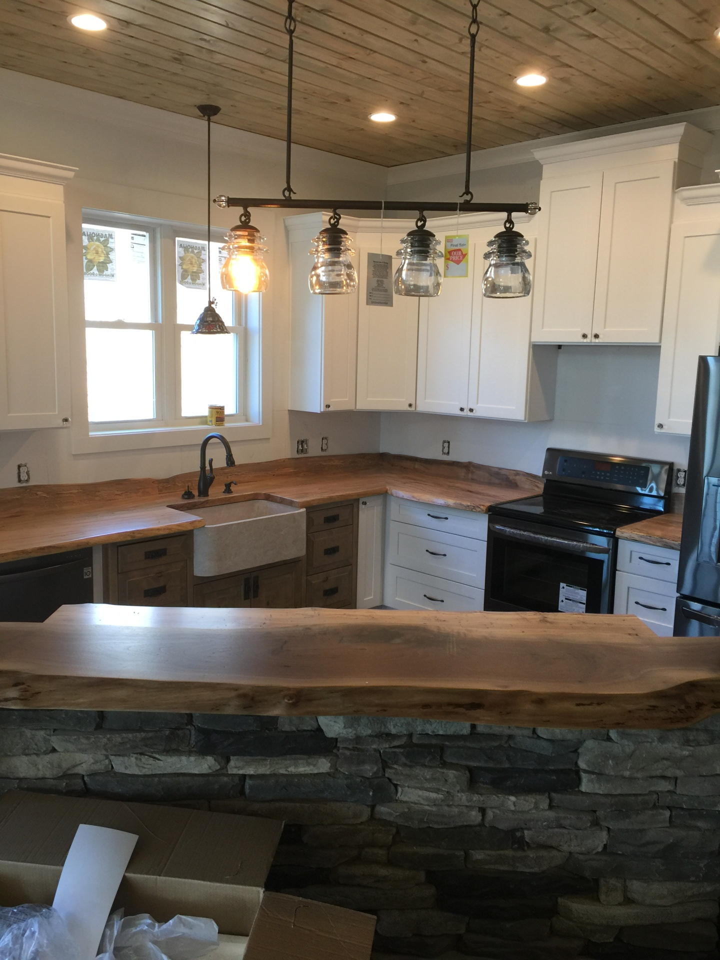 stone, island, wood, countertops,