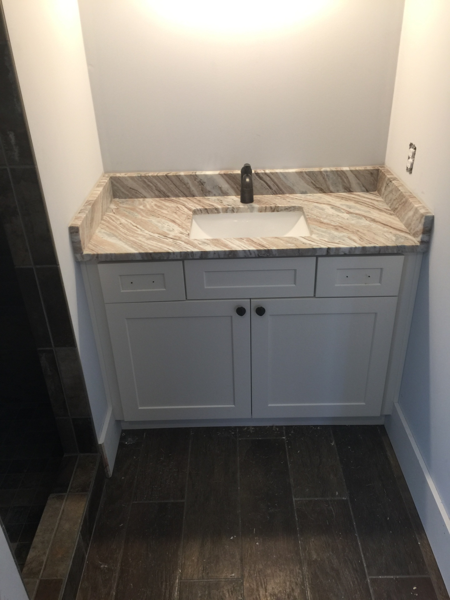 bathroom, cabinets
