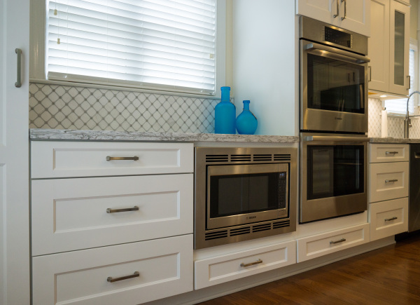 double oven, microwave, stainless steel, kitchen, cabinet corp