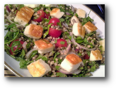Maftoul and Lentil Salad