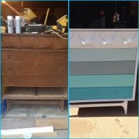 Dresser Antique Wooden Make over