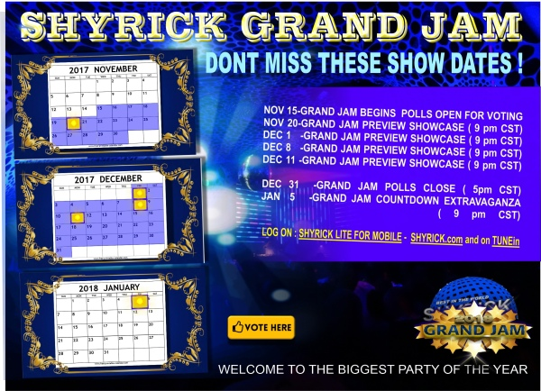 GRAND JAM KICKS OFF HERE'S SOME DATES