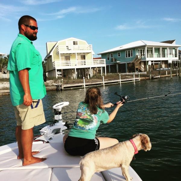 Take a dog fishing, Navarre Beach