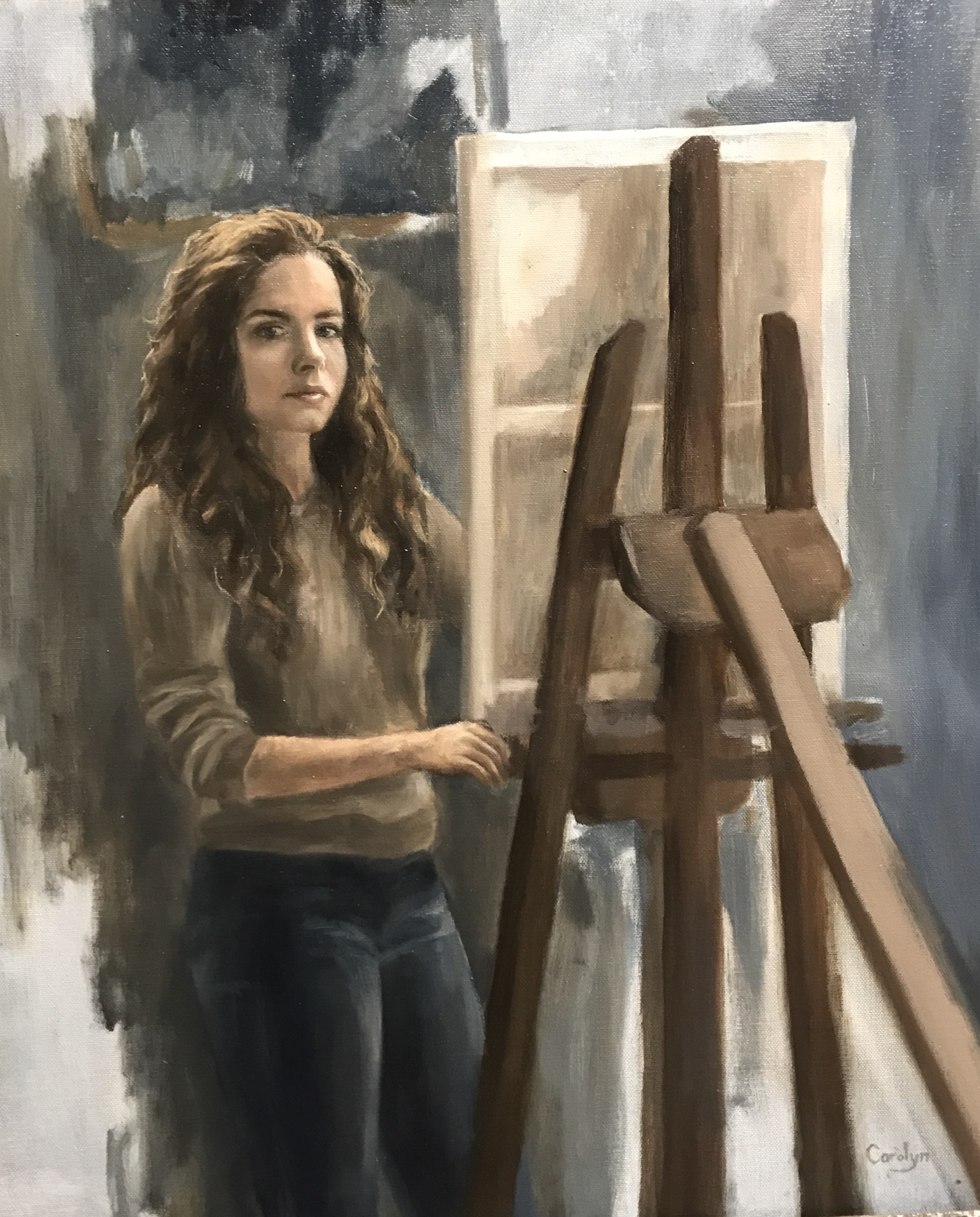Portraits in oil classes for teens