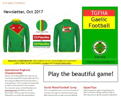 Newsletter Oct 2017