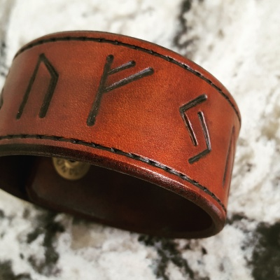 SUCCESS RUNE - Leather Cuff -