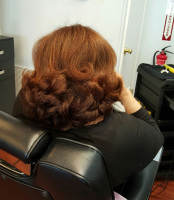 Women's beauty hair design