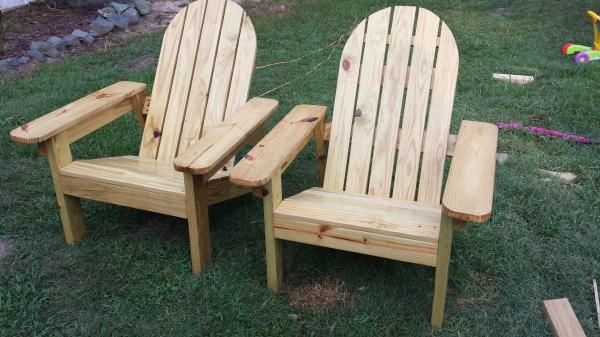 Natural Stain Adirondack Chairs