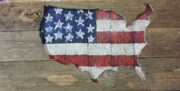 United States/American flag Sign