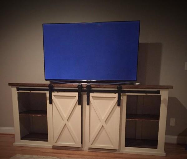 Barn Door TV Console