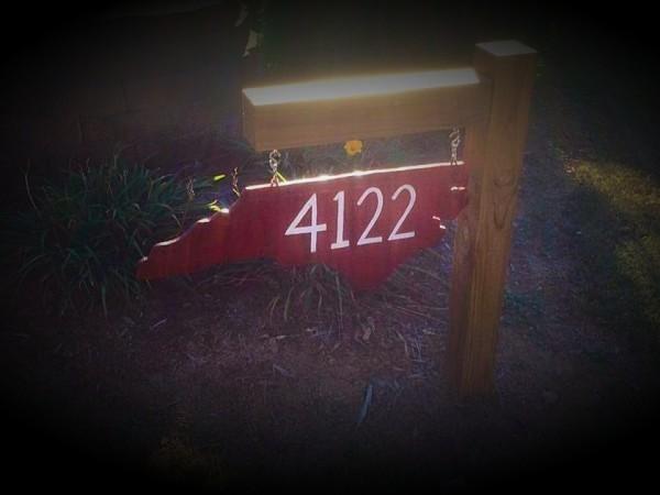 NC Custom Address Sign