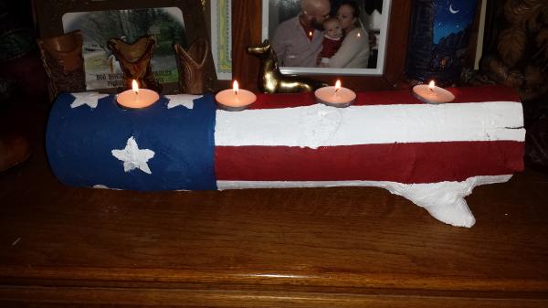 Patriotic Candleholder